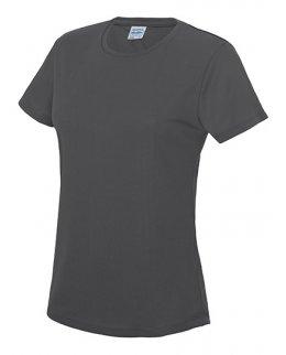 Blyertsgrå Tränings T-Shirt Dam Med Eget Tryck