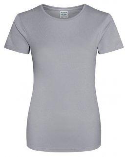Gråmelerad Tränings T-Shirt Dam Med Eget Tryck