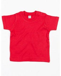 Red Kortärmad baby t-shirt med eget tryck