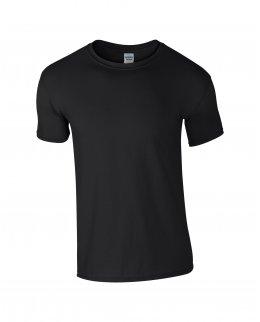 Svart herr t-shirt med eget tryck