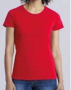T-shirts i dam-modeller med eget tryck
