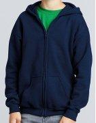 Zip-hoodies med eget tryck för barn - vi trycker utan minsta upplaga